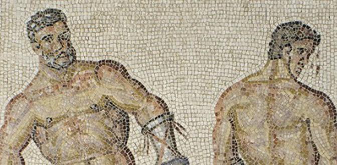 Actualités : exposition « Le combat d'Entelle et Darès – Mosaïques d'Aix antique restaurées »