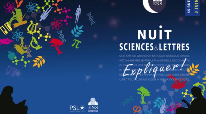 Actualités : «La Nuit Sciences et Lettres»