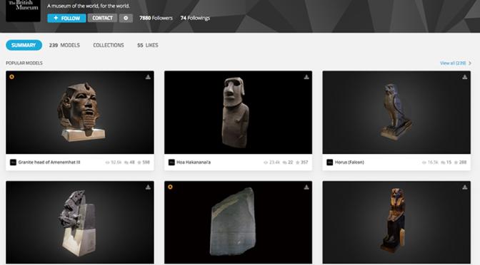 Les objets du British Museum en 3D
